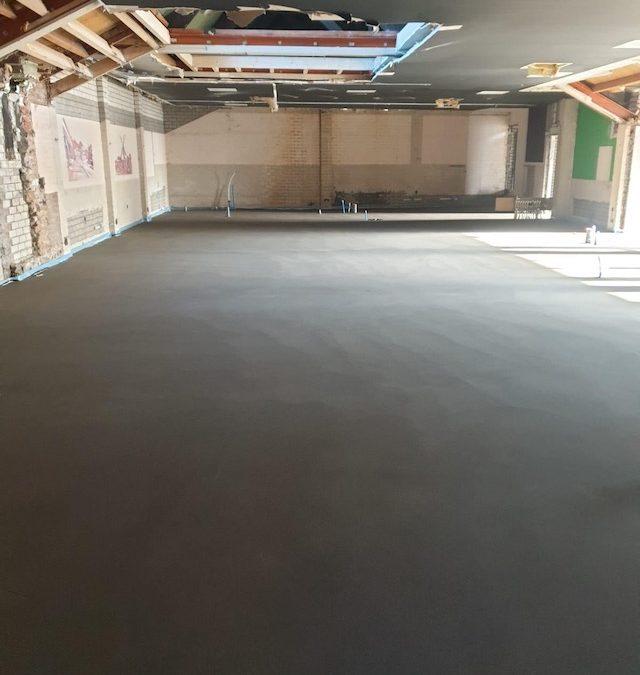 Betonvloer voor Architectenbureau